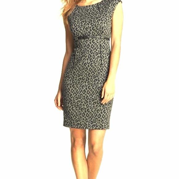 Calvin Klein Dresses   Skirts - Calvin Klein Animal Print Cap Sleeve Sheath  Dress 75eceabc1